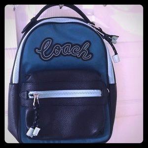Coach Vale Sling Backpack Blue